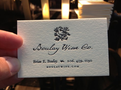 Lovely cards for Boulay Wine Co.
