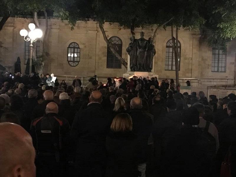 candlelight vigil daphne caruana galizia 16 feb 2018