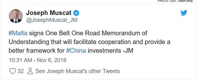 Joseph Muscat China