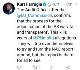 Kurt Farrugia spin NAO report