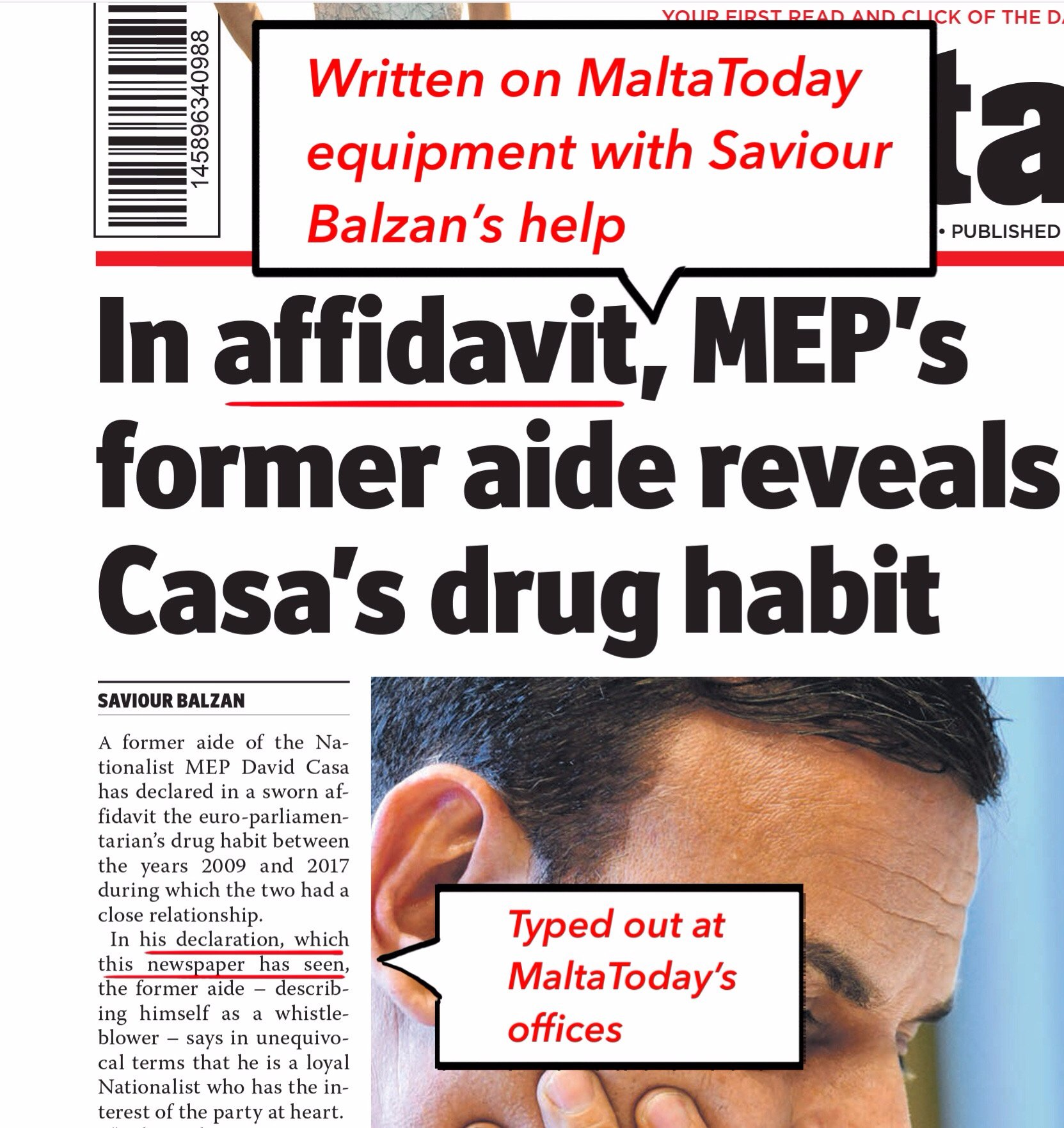 saviour balzan manufactured evidence