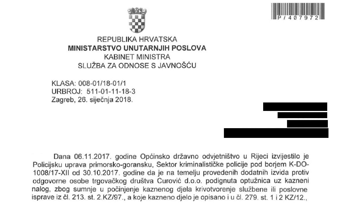 Croatia indictment Kristijan Curavic