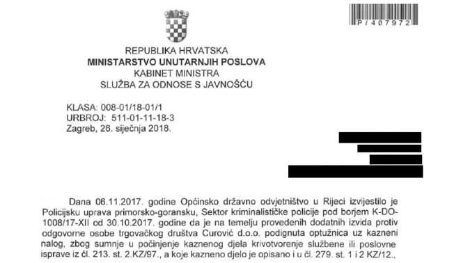 Croatia indictment Kristijan Curavic