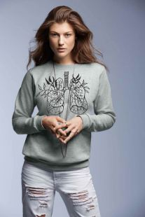 tüdő szürke szürke pulcsi