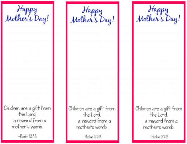 Free Printable Bookmark Craft for Mother's Day - The ...