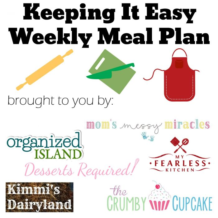 "Easy Weekly Meal Plan #17 from My Fearless Kitchen. This week's meal plan includes Cereal Banana Muffins, Shiitake ""Bacon"" & Shredded Brussels Sprouts Pizza, Easy Marinated Hanger Steak, Barbecue Chicken Quesadilla, Ground Beef Stroganoff, Pepperoni & Tomato Macaroni Dinner, and Guava Cheesecake."