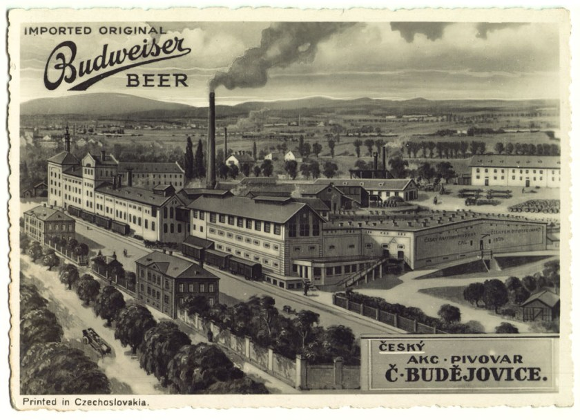 What the original Budweiser Budvar brewery looked like when it was first opened.