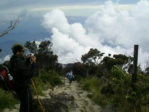 Our guide, Yeta, climbing the rocky path
