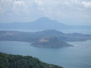 View of the Taal volcano from the hotel