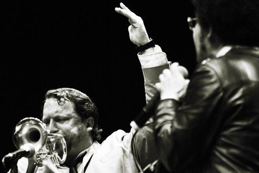 Rob Mazurek and Damon Locks | Sao Paulo, May 2009 | Photo by Paulo Borgia