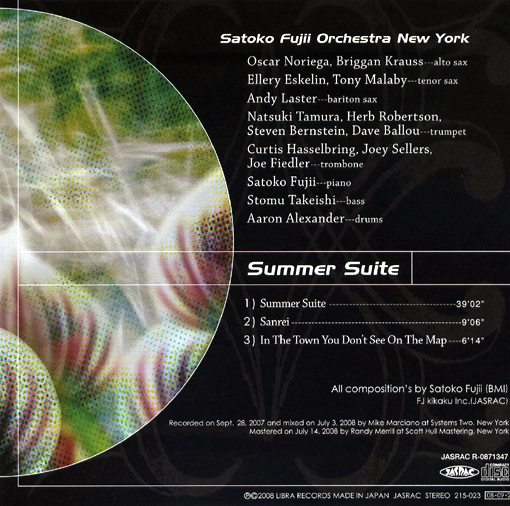 Satoko Fujii Orchestra New York | Summer Suite | libra records