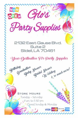 Glo's Party Supplies