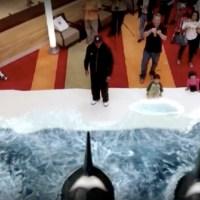 Realidad aumentada, osos polares y ballenas dentro del centro comercial
