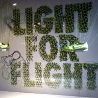 Nike Flyknit, una exhibición ultraligera