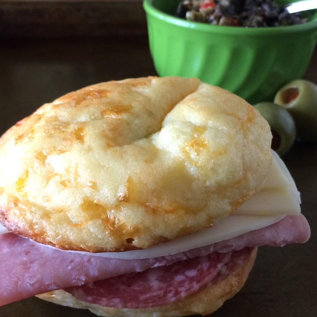 Fat Head keto roll sandwich