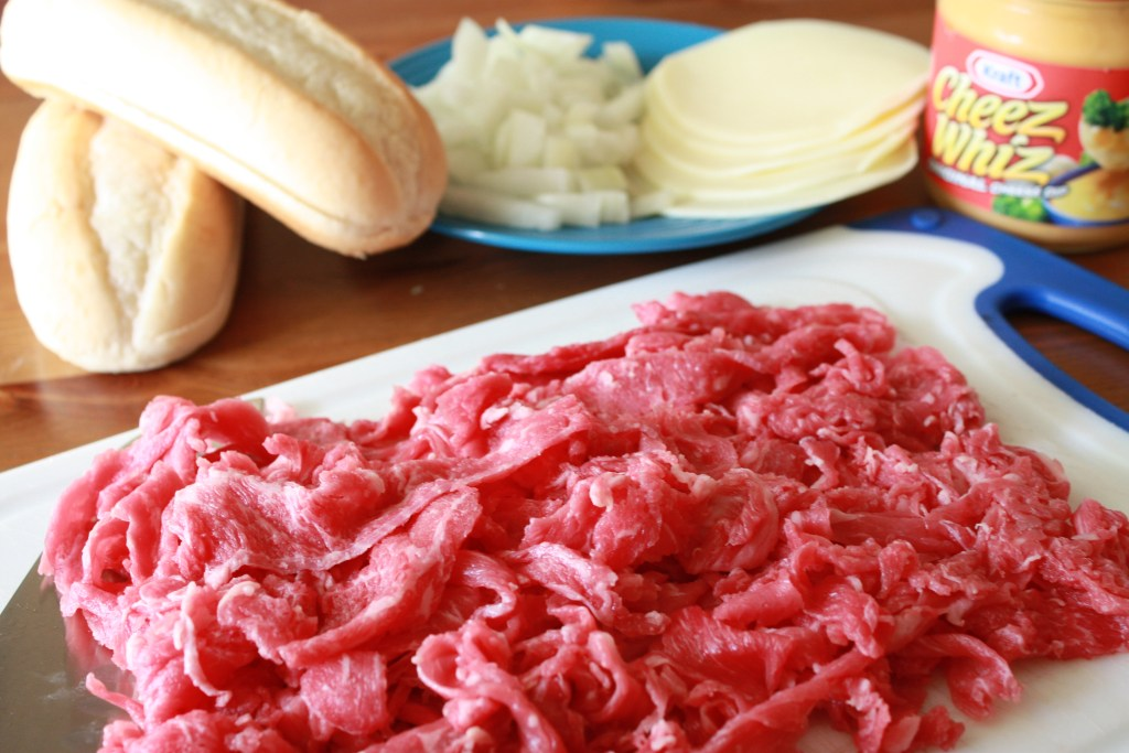 Philly Cheesesteak ingredients
