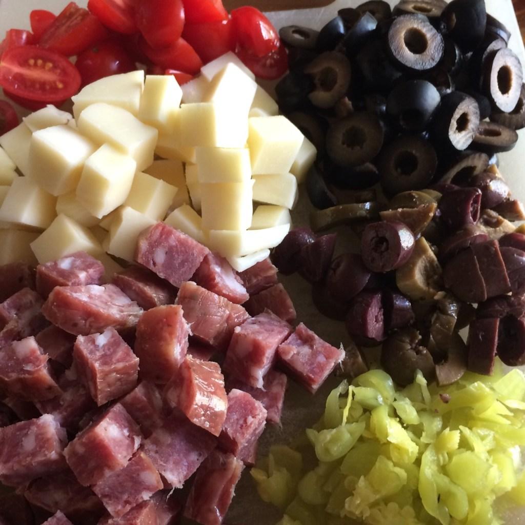 Antipasto Rice Salad ingredients