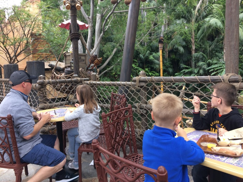 Jungle Cruise river view and Rosita, the singing bird @ Disneyland Tropical Hideaway The Short Order Cook