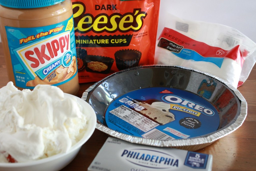 Frozen Peanut Butter Cup Pie ingredients The Short Order Cook