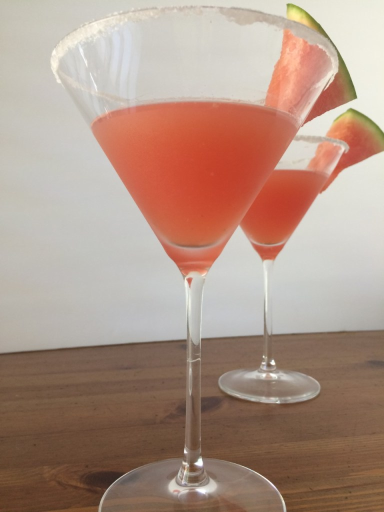Watermelon mint martini