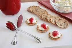 HOLIDAY CRANBERRY CHEESE SPREAD plated