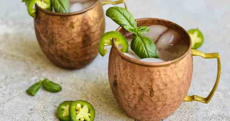 Spicy Jalapeno Basil Moscow Mule