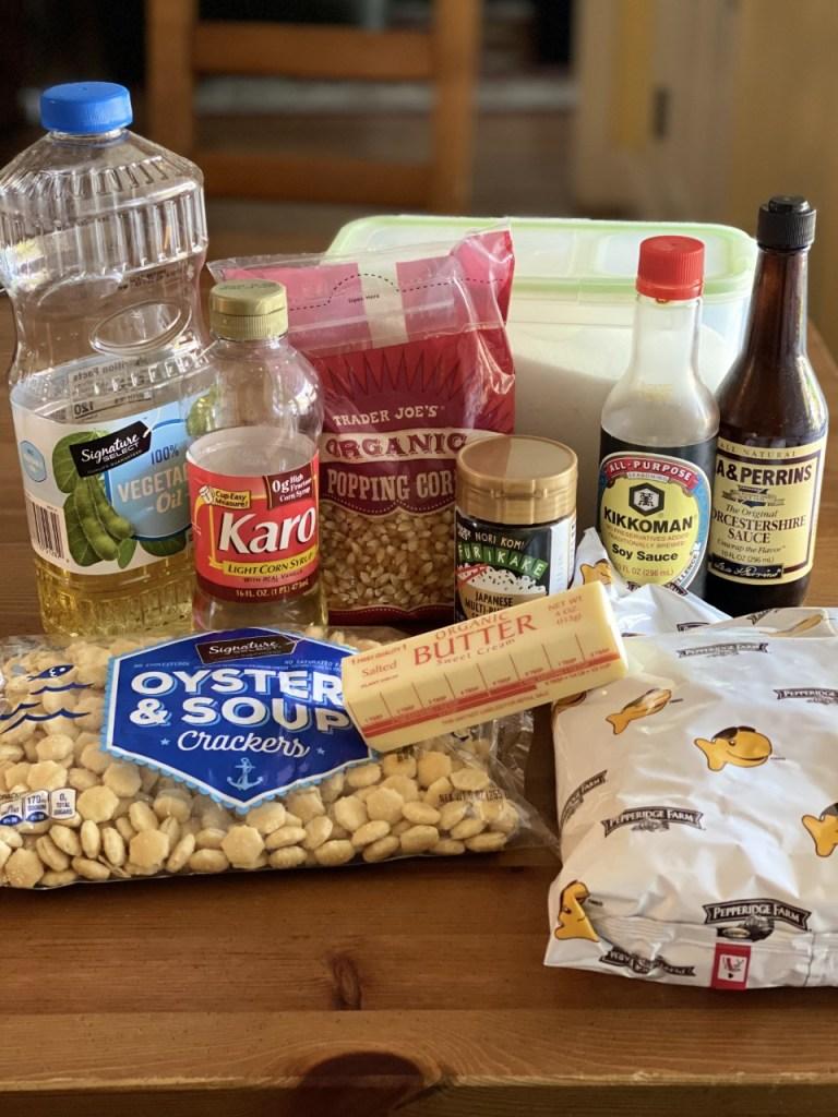 Ingredients for Furikake Snack Mix