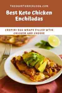 Best Keto Chicken Enchiladas PIN