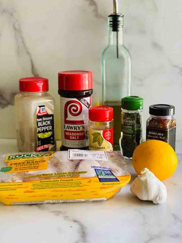 Ingredients for the best italian chicken