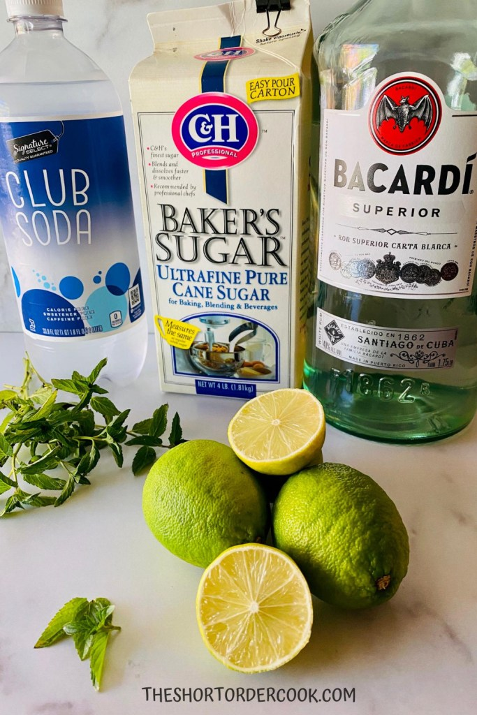Classic Mojitos by the Pitcher Ingredients
