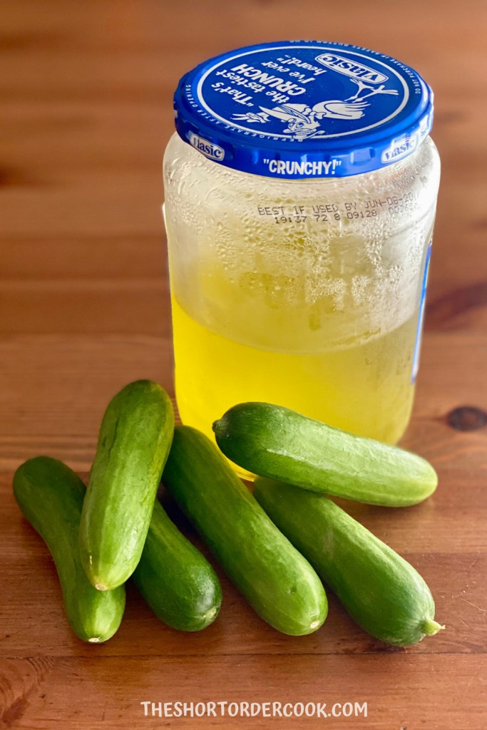 Homemade Pickles With Leftover Pickle Juice The Short Order Cook