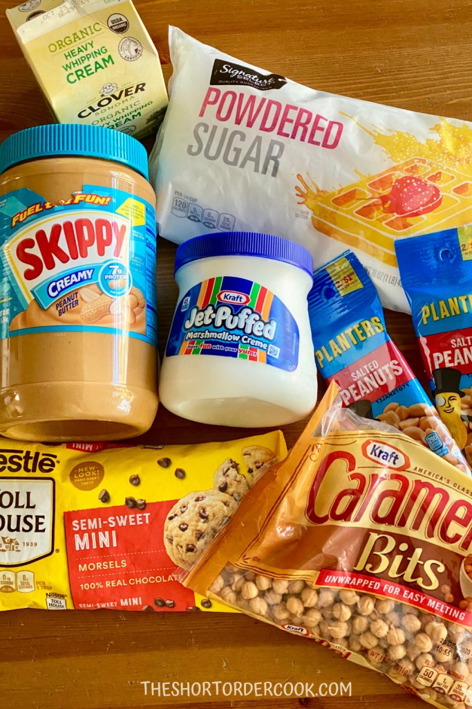 Homemade Snickers Bars ingredients