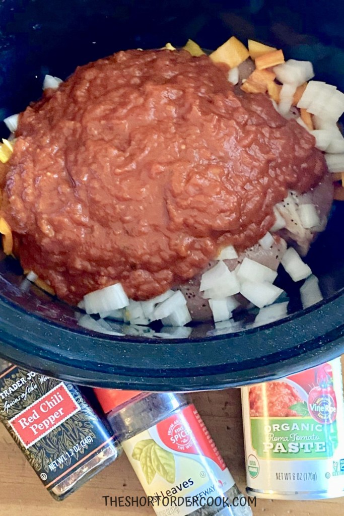 Slow Cooker Chicken Cacciatore final step
