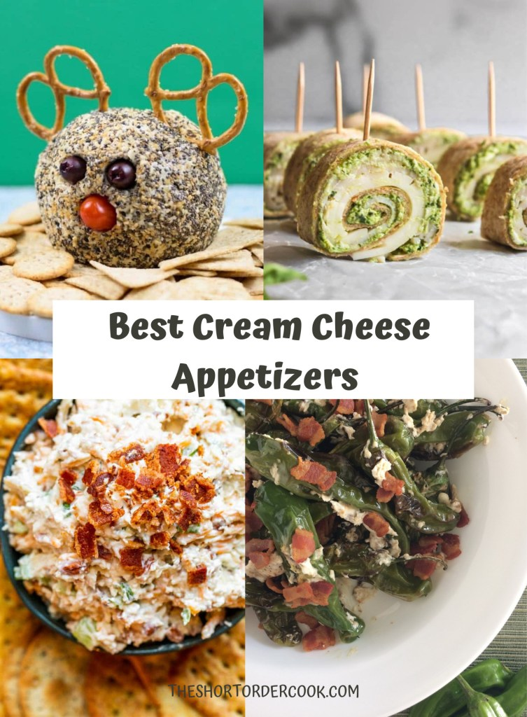 Best Cream Cheese Appetizers 4 image collage