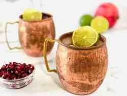 Best Pomegranate Moscow Mule featured close up