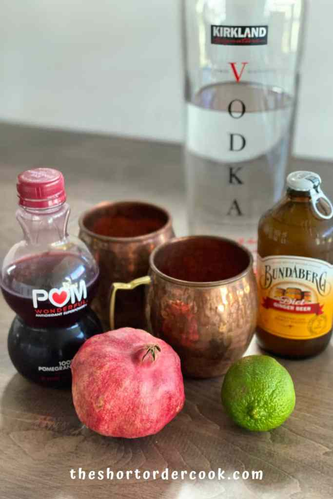 Best Pomegranate Moscow Mule ingredients
