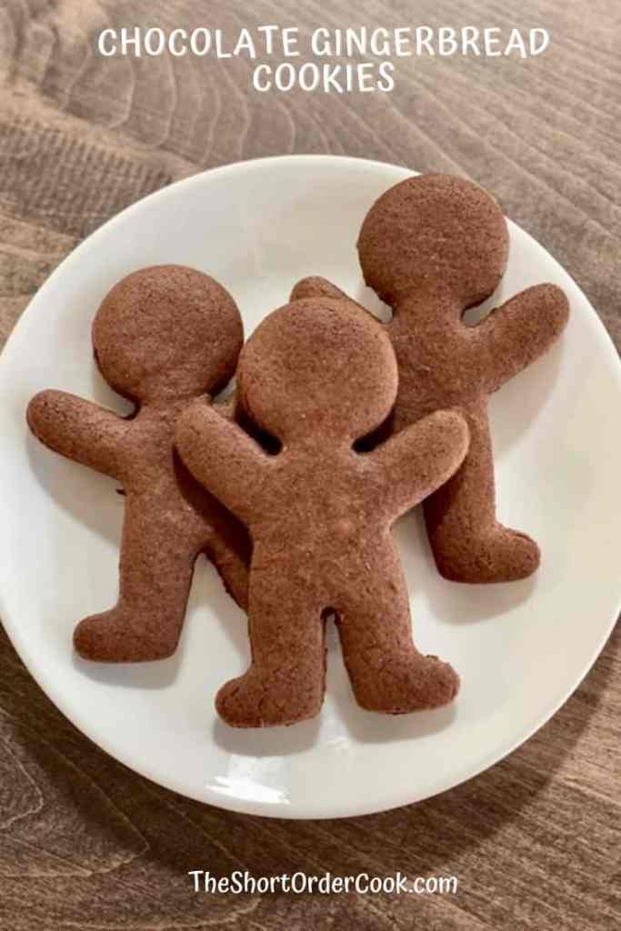 Chocolate Gingerbread Cookies 3 on a plate
