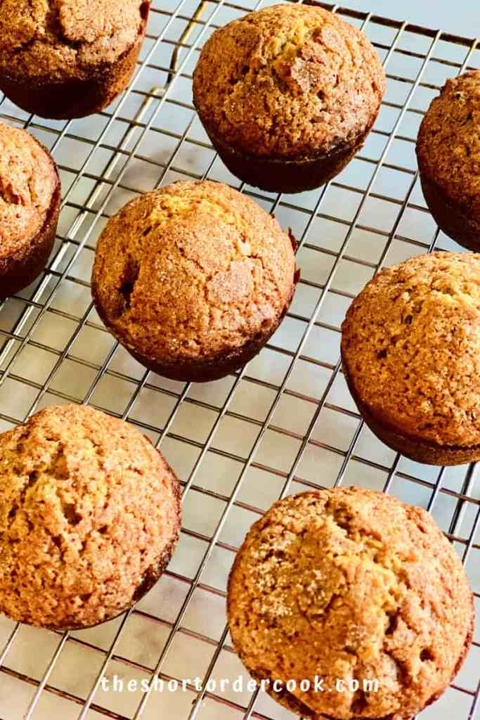 Easy Applesauce Muffins cooling on a rack