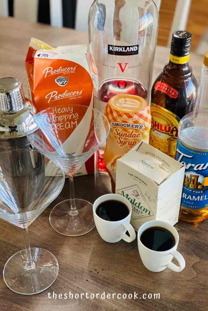 Salted Caramel Espresso Martini ingredients