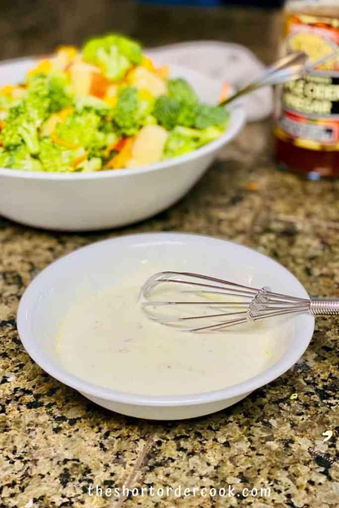 Broccoli Apple Salad with Greek Yogurt Dressing (no mayo) dressing