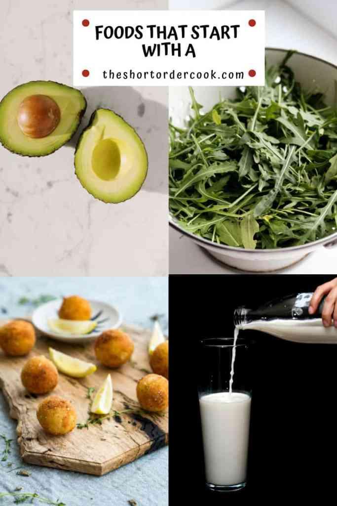FoodsThatStartWithA 4 images