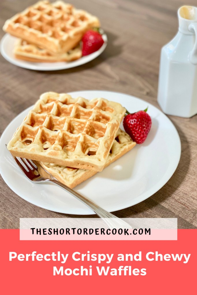 Perfectly Crispy and Chewy Mochi Waffles PIN