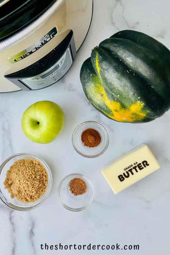 Slow Cooker Brown Sugar Acorn Squash ingedients