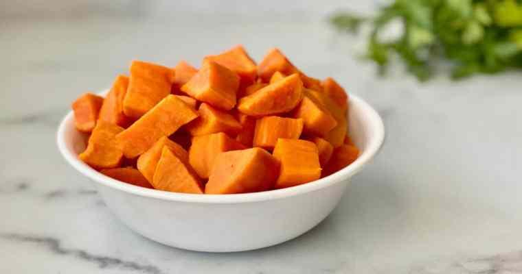 Instant Pot Cubed Sweet Potatoes
