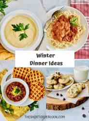 Winter Dinner Ideas PN1 4 recipeimages for chicken cacciatore cream of celery soup beef chili and chocolate chip cookies