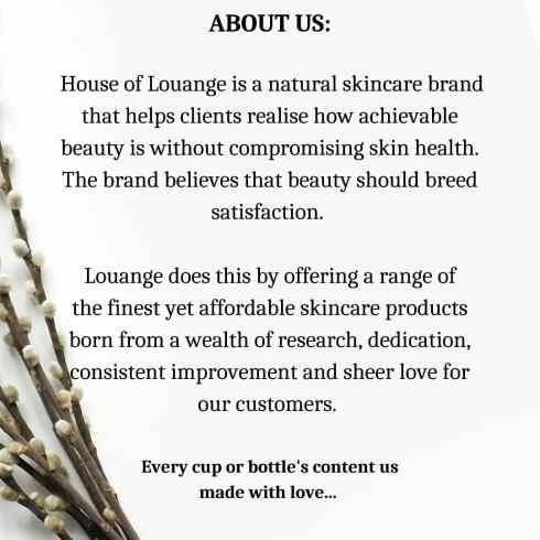 House of Louange is a natural skincare brand that helps clients realize how achievable beauty is without compromising skin health.