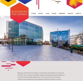 Blackburn and Darwen website homepage