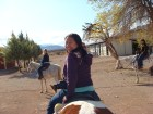 On a horse in Red Rock Canyon