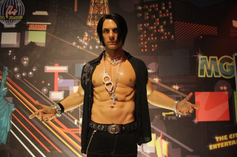 There's also a wax figure of magician Chris Angel who has his own magic themed Cirque du Soleil show in Vegas