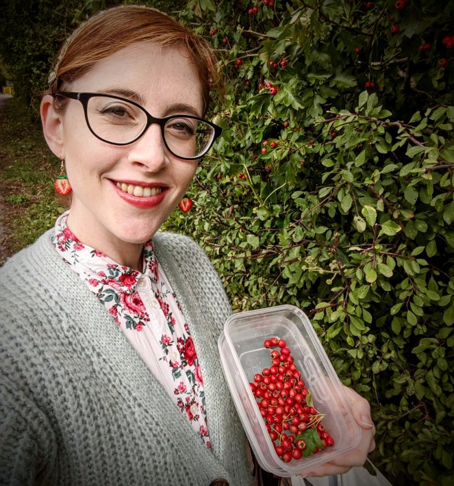 foraging for hawthorn berries to make hawthorn gin uk